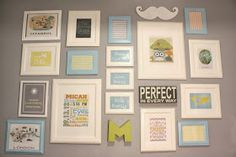 Gallery wall by Supermom vs Me: December 2013