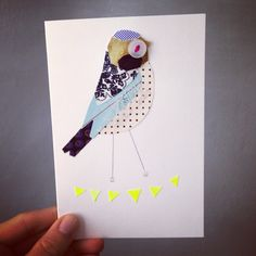 A NEW Birdie and Triangles Card by Pratt Factory