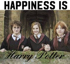Happiness is..... HARRY POTTER Harry Potter Cast, It Cast, Join, Happiness, Happy, Movie Posters, Movies, 2016 Movies, Happy Happy Happy