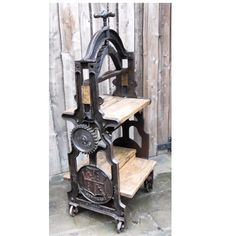 Retro Furniture, Upcycled Furniture, Industrial Furniture, Antique Furniture, Furniture Ideas, Shelves For Sale, Cast Iron, Shelving, Home Appliances