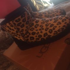 Brand new cheetah print uggs. Never worn. Brand new, never worn cheetah print uggs. Possibly do a trade. $145 OBO UGG Shoes