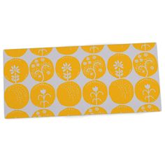 "Anneline Sophia ""Dotty Papercut Yellow"" Circles Gray Desk Mat"