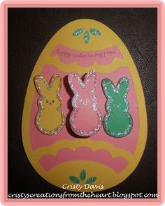 Easter Egg Card made from CTMH Art Philosophy Cricut cartridge.