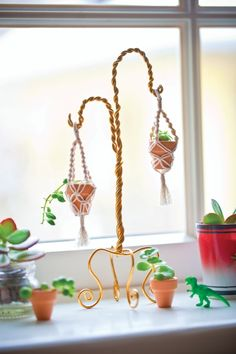 Minute Macrame Planters | 18 Miniature Craft Projects That Will Melt Your Heart