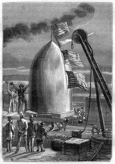 De la Terre à la Lune : trajet direct en 97 heures 20 minutes / Jules Verne. J. Hetzel, ca. 1867