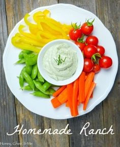 Homemade Ranch Dressing Recipe - I've never met a person that doesn't like ranch dressing. Never. What I have met however is people who don't want to eat it because it's generally made with total crap. Until now.