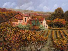 Tra Le Vigne a Montaicino by Guido Borelli