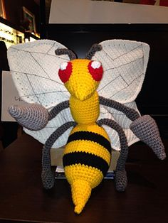 Crochet Pattern Name: Beedrill Pattern by: Karen Williamson
