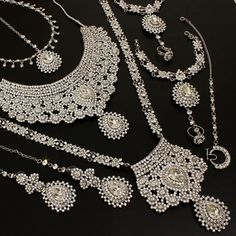 Indian Silver Bridal Necklace Indian Bridal Jewelry Sets 981dea03d508