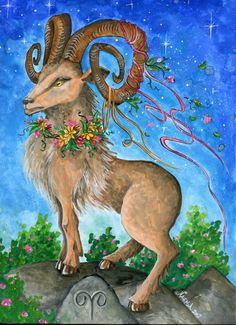 Watercolor - Star Sign - Aries - Print from Original Paintings - Zodiac Series