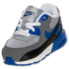The Nike Air Max 90 Toddler Running Shoes are a classic look for your toddler's toes! Whether he's running around the yard or (like most toddlers we know) getting into some some sort of trouble, his feet will be cushioned in a soft ride. The full grain upper provides both durability and comfort, while the PU midsole and Nike Air unit provide lightweight cushioning. Plus, the outsole is made of solid rubber in a waffle pattern for traction and durability that hold up to your toddle...