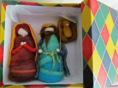 Muñecos de Vellón: Pesebres de Fieltro Needle Felting, Nativity, Lunch Box, Reyes, Scene, Tela, Filter, The World, Needlepoint
