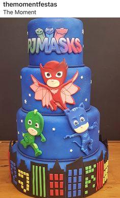 PJ Masks Birthday Themes For Boys, 3rd Birthday Parties, Baby Birthday, Pjmask Party, Pj Masks Birthday Cake, Festa Pj Masks, Edible Creations, Novelty Cakes, Cakes For Boys