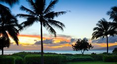 A gorgeous sunset view at the Westin Nanea Ocean Villas in Maui!