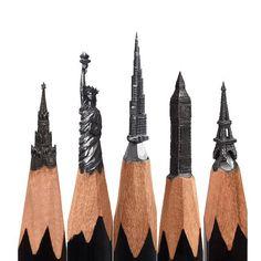The Spasskaya Tower, Statue of Liberty, Burj Khalifa, Big Ben, Eiffel tower...