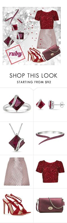 """""""Ruby"""" by gilliewill ❤ liked on Polyvore featuring Ice, Miadora, Miu Miu, Parker, Gianvito Rossi and Coach"""