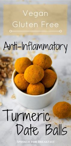 Move over turmeric milk! These healthy, vegan and gluten-free Anti-Inflammatory Turmeric Date Balls are chock full of health benefits and super easy to make. Plus, this tasty golden snack is refined sugar free! :)