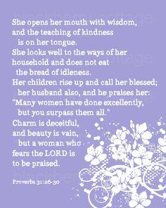 Proverbs 31:26-30