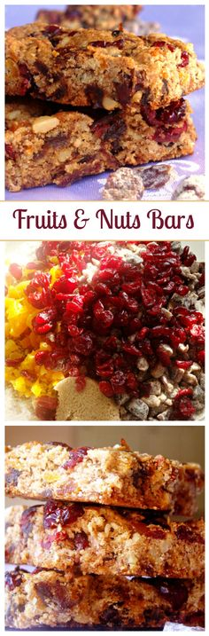 Fruit and Nut Bars – Healthy and delicious breakfast bars loaded with dried fruits and walnuts.