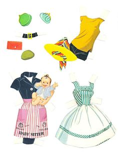 Friend of Barbie includes. Two dolls, one brown hair and one blonde;  Seven sheets of clothes and accessories. Midge Best Friend of Barbie Cut-Outs |  Artist: Al Anderson?  2 of 12