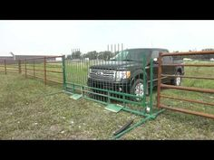 Drive-Over Gate - Lakeland Group Farm Gate, Farm Fence, Sheep Fence, Cattle Gate, Cattle Corrals, Farm Hacks, Farm Projects, Cattle Farming, Automatic Gate
