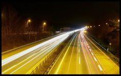 The Autobahn at night -  #infrastructure #autobahn #night #photography