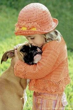 .Hugs and kisses. So sweet!