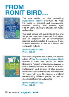 Explore two great resources dedicated to tackling dyscalculia by Ronit Bird: The Dyscalculia Toolkit and The Dyscalculia Resource Book. Math Teacher, Teaching Math, Teacher Resources, Maths, Special Educational Needs, Dyscalculia, Math Help, Math Skills, Teaching Materials