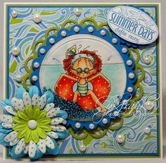 Sassy Cheryl's Digi Stamps Challenge Blog: Challenge #125 - Polka Dots EVERYWHERE!