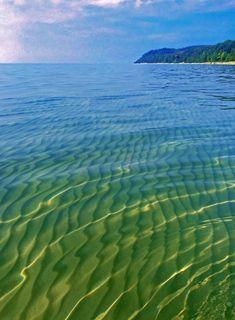 Lake Michigan shore near Leland, MI.