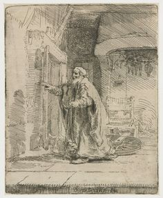 De blinde Tobias: grote plaat, Rembrandt Harmensz. van Rijn, 1651