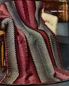 NEW! Empire Afghan crochet pattern from Your Favorite Afghans to Knit & Crochet, Volume No. 45, from 1966.