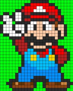 Grille pour crocheter un pixel plaid adapter les grannys http afbeeldingsresultaat voor pixel art see more mario full body perler perler bead pattern bead sprites characters fuse bead patterns pronofoot35fo Image collections