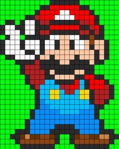 Mario Full Body Perler Perler Bead Pattern | Bead Sprites | Characters Fuse Bead Patterns