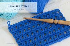 Crochet Tutorial Ideas How To: Crochet The Triangle Stitch - Easy Tutorial More - Cute Crochet Patterns and DIY's Tunisian Crochet, Learn To Crochet, Crochet Afghans, Crochet Blankets, Crochet Stitches Patterns, Stitch Patterns, Wallpaper Magic, Cute Crochet, Knit Crochet