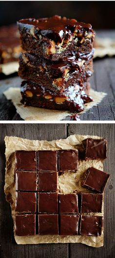 Adding butterscotch and peanut butter to a rich chocolate ganache is so so right! Covering a rich homemade brownie with it is even better! Easy recipe, awesome results.