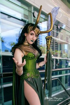 Lady Loki corset by Anachronism in Action