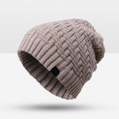 Purple Relic: Knitted Winter Hat For Men ~ Skullies Beanies