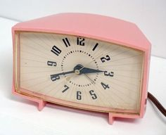 Clocks – Decor :     vintage pink clock    -Read More –   - #Clocks https://decorobject.com/decorative-objects/clocks/clocks-decor-vintage-pink-clock/
