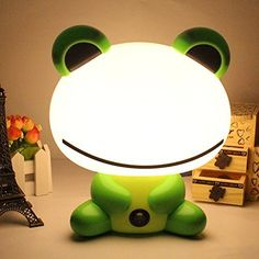 Cartoon Kids LED Beans Frog Nightlight Desk Table Lamp Night for Baby Adults Bedroom Christmas Gift (green) Kung Fu Panda, Green Gifts, Baby Decor, Nursery Decor, Table Desk, Table Lamp, Christmas Gifts, Christmas Decorations, Boutique Homes