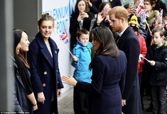 Harry and Meghan visit an event this morning at Millennium Point in Birmingham that aims t...