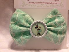 Disney Inspired Vintage Minnie Bow by GracieLoosBoutique on Etsy, $5.50