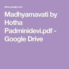 Madhyamavati by Hotha Padminidevi. Free Novels, Google Drive, Pdf