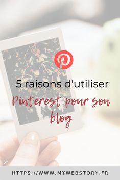 Pinterest est le réseau social idéal pour faire connaitre son blog et ses articles. Je vous donne 5 bonnes raisons de vous inscrire dessus et de partager des épingles pour rendre votre entreprise davantage visible sur internet. #pinterest #reseausociaux #marketing #blog