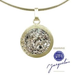 Golden pendant. Ash & diamonds from the Brand Impona