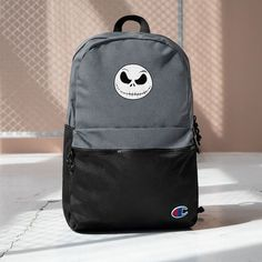 Jack Skellington Nightmare Before Christmas, Halloween Backpack, Spooky Embroidered Champion Backpack, Gift For Him, Gift For Her Champion Brand, Jack Skellington, Herschel Heritage Backpack, Pen Holders, Nightmare Before, Logo Branding, Laptop Sleeves, Gifts For Him, Pouch