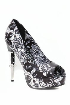 black and white sugar skull heels sooooo inlove!!! ♥