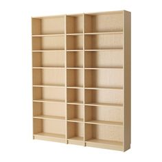 IKEA - BILLY, Bookcase, birch veneer, , Adjustable shelves, so you can customize your storage as needed.Surface made from natural wood veneer.Narrow shelves help you use small wall spaces effectively by accommodating small items in a minimum of space.