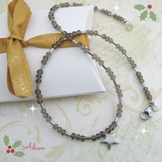 Haematite and Crystal Star Necklace £9.95