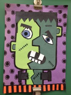 Red Ribbon Week---Picasso Frankenstein (Dont let drugs turn you into a monster)